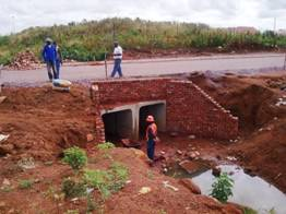 Construction of a culvert and gabions on wing walls in Block W, Soshanguve