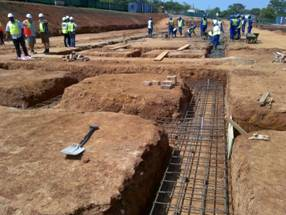 Concrete Strip Footings under construction at Empangeni Rail High School