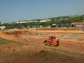 Empangeni Rail High School, during bulk earthworks and foundation construction